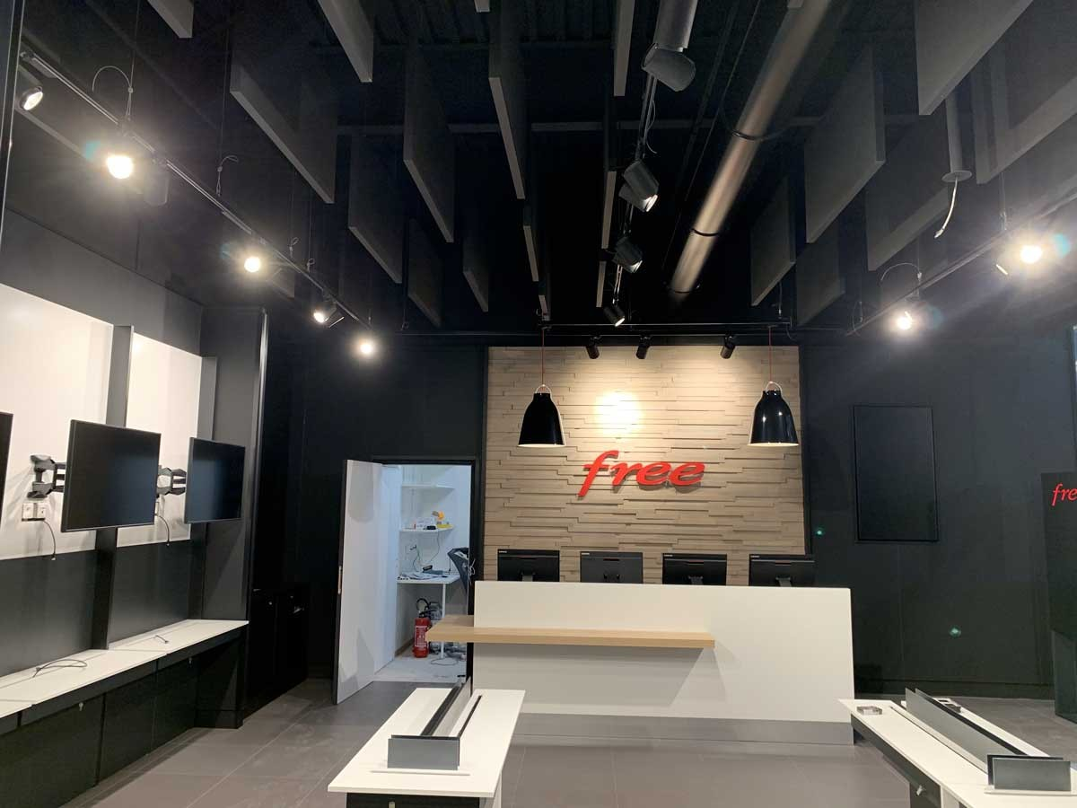 Travaux magasin free nice
